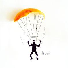 #orange #paracadute
