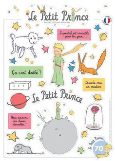Ultra Brilliant Stickers : The Little Prince French Teacher, French Class, French Lessons, Teaching French, Little Prince Party, The Little Prince, Prince Tattoos, Prince Birthday, Learn French