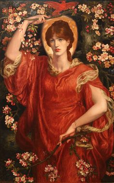 Dante Gabriel Rossetti [English Pre-Raphaelite Painter, A Vision of Fiammetta 1878 oil on canvas 146 × 90 cm × in) Collection of Lord Lloyd-Webber Dante Gabriel Rossetti, John Everett Millais, Lawrence Alma Tadema, Bright Paintings, Beautiful Paintings, Old Paintings, John William Godward, Gustav Klimt, Pre Raphaelite Paintings