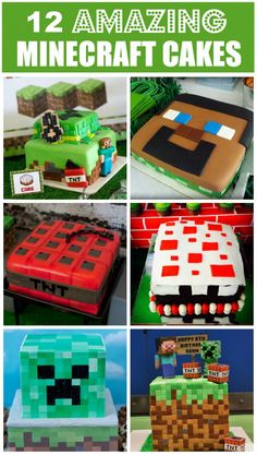 12 amazing Minecraft birthday cakes, perfect for a boy birthday! You must see these! | CatchMyParty.com