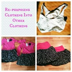 Re-purposing Clothing: Tons of ideas for how to repurpose old clothing!