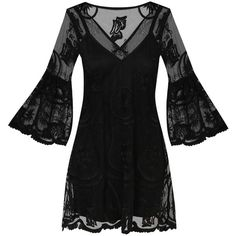 Something Borrowed Lace Swing Dress ($11) ❤ liked on Polyvore featuring dresses, lacy dress, swing dress, tent dresses, lace swing dress and trapeze dresses