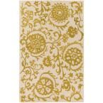 Rhodes Maggie Gold 9 ft. x 13 ft. Indoor Area Rug
