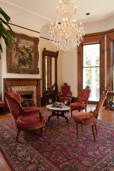 Enjoy the passing color of the street as you relax in our parlour with a glass of wine or a good book.  #NewOrleans #bedandbreakfast