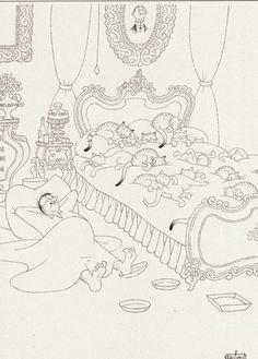 Albert Dubout 'Les chats' 07