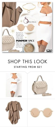 """""""Pumpkin Spice Style"""" by dressedbyrose ❤ liked on Polyvore featuring Linda Farrow, Alexis Bittar, pss, yoins, yoinscollection and loveyoins"""