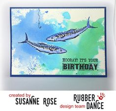 Rubber Dance Blog: Birthday Card by Susanne