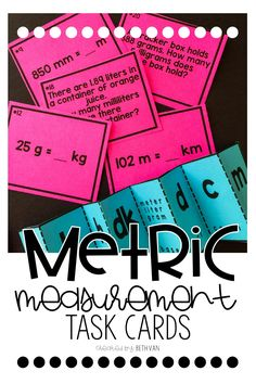 Teaching the metric system? Converting measurements? Task cards, activities, and the best reference tools for students to get them engaged!