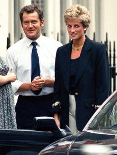 Paul Burrell et la princesse Diana à Londres, en 1994.  CMFB  #CMFB