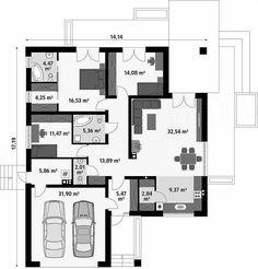 Casa de 128 mp prezentata de noi in acestarticol are un design asemanator unui bungalou cu spatiu de locuit si garaj dublu. Forma tradițională, elevația cu panouri din sticlă transparentădar si…