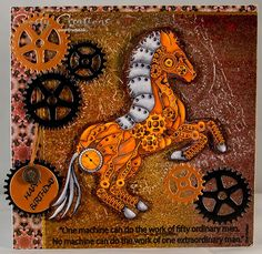 using - Steampunk Horse Digital Stamp and Paper Pack by Coosty Creations available from the StitchyBear Digital Outlet
