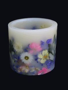 Hurricane shells with real flowers