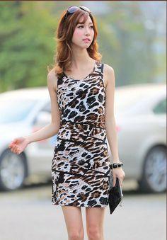 2014 Ladies Sexy Clubwear Women s Leopard Print Sleeveless Dresses Fashion  Mini Dress For Women Free Shipping  8.99 54e427615