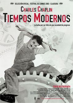 """""""Tiempos modernos"""" largometraje de 1936 escrito y dirigido, por Charles Chaplin, que fue también el actor principal junto a Paulette Goddard y Henry Bergman. Personaje víctima de la industrialización en la gran depresión americana..."""