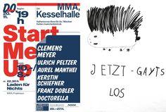 Start Me Up: Ulrich Peltzer, Aurel Manthei, Kerstin Schiefner, Franz Dobler und Doctorella (Do., 20.11.2014, 19 Uhr) www.literaturfest-muenchen.de/navi2/forumautoren/