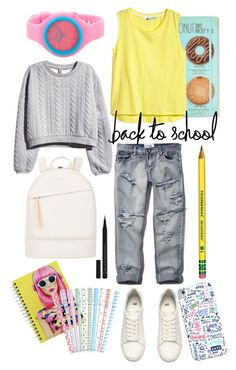 Bright to School by wardahrose on Polyvore featuring H&M, Abercrombie & Fitch, Want Les Essentiels de la Vie, Rip Curl, Casetify and Illamasqua