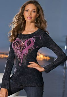 Chic Heart Ribbon Tee ($49) for Breast Cancer Awareness