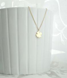 *kleeblatt charm* 925 silber Halskette vergoldet von Mint Design auf DaWanda.com