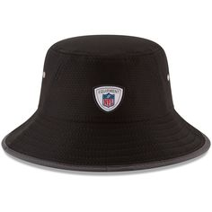 Oakland Raiders New Era Youth 2017 Training Camp Official Bucket Hat - Black 816d1d092d9
