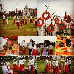 """Ceremonia de ELOTLAMANALITZTLI """"Ofrenda del maíz tierno"""" año OME TOCHTLI."""