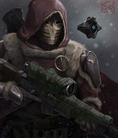 Rise of Iron Hunter and Ghost Destiny Comic, Destiny Game, My Destiny, Destiny Bungie, Cry Anime, Anime Art, Armor Concept, Concept Art, Character Concept