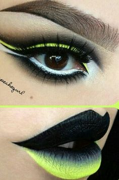 Yellow & Black Make Up