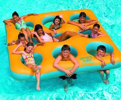 """Grab your friends, a multi person pool float, and get ready to have yourself an adventure! Labyrinth Island is an 8 person pool float that adds a new dimension to pool island adventure! A huge 96"""" island large enough for you and 8 friends! Adds a new dimension to swimming pool island island adventure Constructed with durable vinyl"""