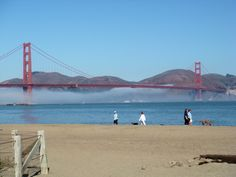 Crissy Field with the view of the Golden Gate Bridge