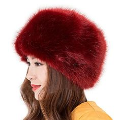 e5fa5b344c9 Crazy Genie Unisex Faux Fox Fur Winter Thick Warm Trapper Snow Hat Cap with  Ear Flap for Skiing (Black 2) at Amazon Women s Clothing store