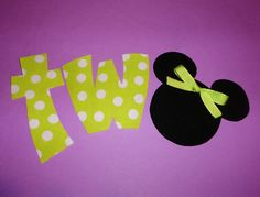 Fabric Applique TEMPLATE PATTERN Only Mickey Minnie Mouse Head BIRTHDAY Number Two Word.....New. $1.50, via Etsy.