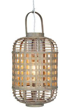 Lámparas de bambú colgantes ERISTE.