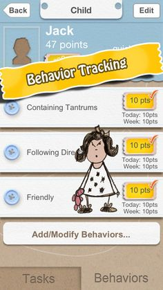 Jo Frost Rewards ($1.99) provides a simple way to reinforce positive behavior by rewarding children for completing their chores/tasks & for exhibiting respectable behavior.  1. Track individual Tasks for one or more child. Each task is assigned a point value.  2. Track individual Behaviors for one or more child. Each Behavior is assigned a point value.    Points earned through tasks and behaviors can be later redeemed for rewards you identify in the app. All lists are fully customizable.