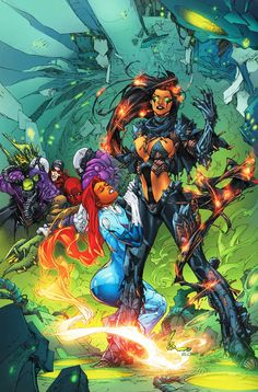 Starfire and Blackfire in Red Hood and the Outlaws.