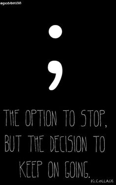 the option to stop but the decision to keep going