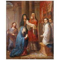 Presentación del niño en el templo. Miguel Cabrera. Fernanda Dichi.