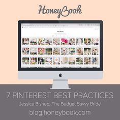 I'm sharing some Pinterest tips for wedding pros over on the @Honeybook blog!  Visit the link in my bio and click this image to read the post! // See this post on Instagram: http://ift.tt/1QI0nL3