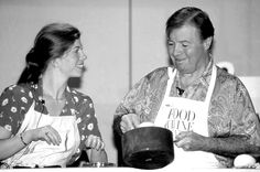 Jacques and Claudine Pépin in their cooking demonstration at the 1994 Classic in Aspen.