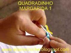 CROCHE - SQUARE / QUADRADINHO MARGARIDA EM CROCHE - 1ª PARTE