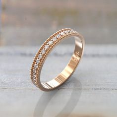 Rose Gold Diamond Wedding Bands Women Full Eternity Ring ct Size 5 US Rose Gold Diamond Ring, Rose Gold Engagement Ring, Diamond Wedding Rings, Wedding Bands, Gold Wedding, Marquise Diamond, Emerald Diamond, Emerald Cut, Diamond Studs