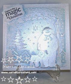 Carroll's Creations: My demo day samples Embossalicious I Believe folder, Die'sire Christmas dies, Snowman and Snowdog dies
