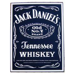 Quadro in latta whiskey jack daniel's collezione idea regalo pub bar