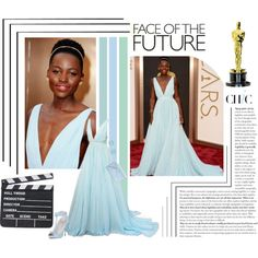 """""""Lupita Nyong'o at the 86th Annual Academy Awards"""" by madamesanssouci on Polyvore"""