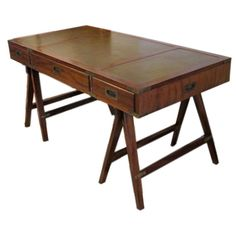 The White Dresser, Indian Campaign Furniture - I would really like to have this as a writing desk.