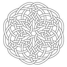 Celtic knot-work hexa by Peter Mulkers