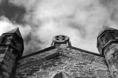 Phantasmagoria ~ Black & White Gothic Church Image ~ St Mary's Church, Bagillt