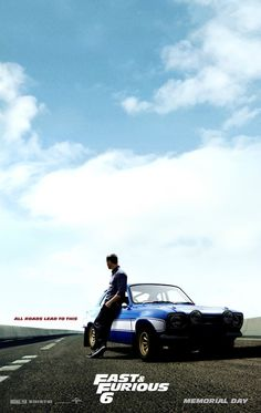 Fast and Furious 6 #movie #poster #Fast6 - Paul Walker as Brian O'Conner