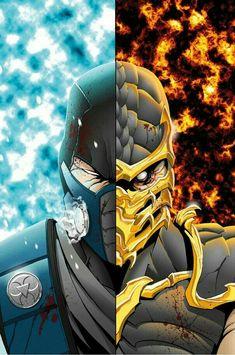Sub Zero Vs Scorpion - Mark Lauthier - Comics 2 Movies Sub Zero Mortal Kombat, Mortal Kombat 9, Mortal Kombat Scorpion, Mortal Kombat Tattoo, Skorpion Mortal Kombat, Video Game Art, Video Games, Game Design, Claude Van Damme