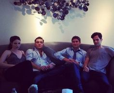 GG set - Michelle Trachtenberg, Ed Westwick, Chace Crawford, Penn Badgley - July 6 (http://thebrspectator.com/?p=5409)