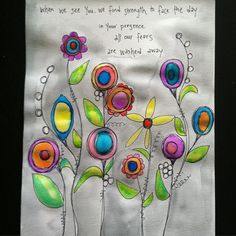 Worship lyrics and watercolored flowers. #watercolor #doodles #flowers