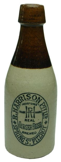 Auction 28 Preview   362   Harrison Fitzroy Stone Real Ginger Beer Bottle